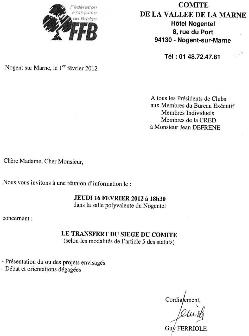Modele convocation reunion de bureau document online - Modification bureau association loi ...